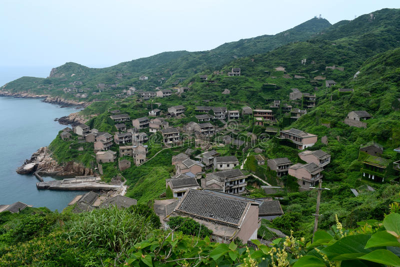 Vila chinesa abandonada fotos de stock royalty free