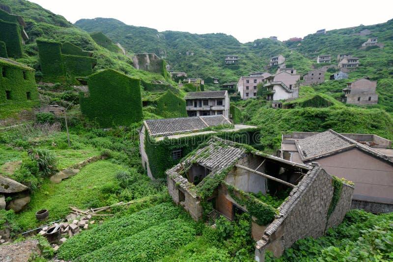 Vila chinesa abandonada imagens de stock royalty free
