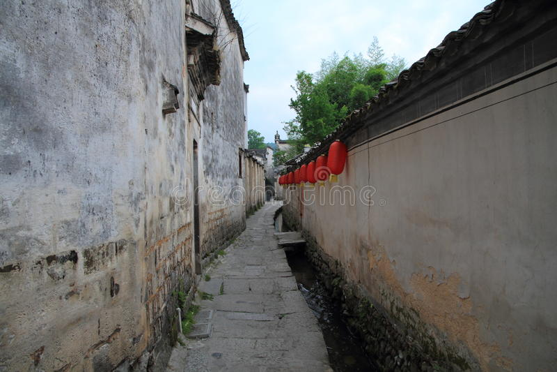 Vila chinesa antiga no Sul da China, hongcun fotos de stock