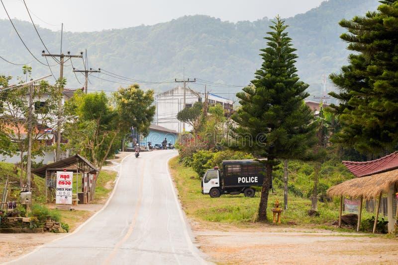 Vila chinesa Tailândia de Mae Salong foto de stock royalty free