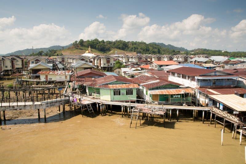 Vila da água, Brunei imagens de stock royalty free