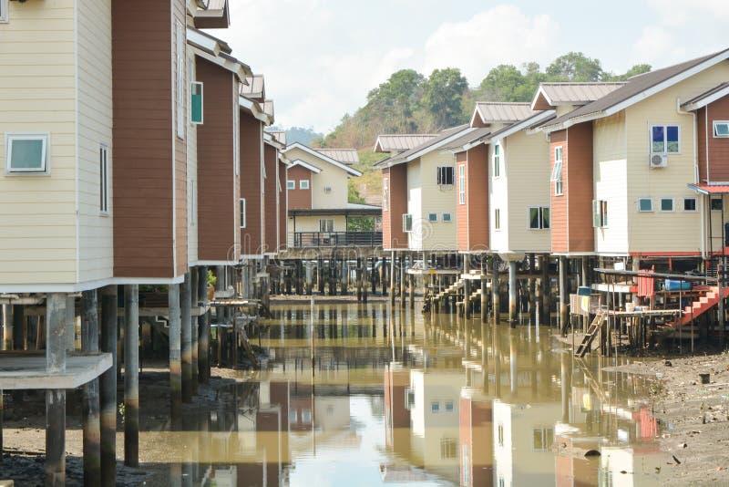 Vila da água, Brunei fotografia de stock