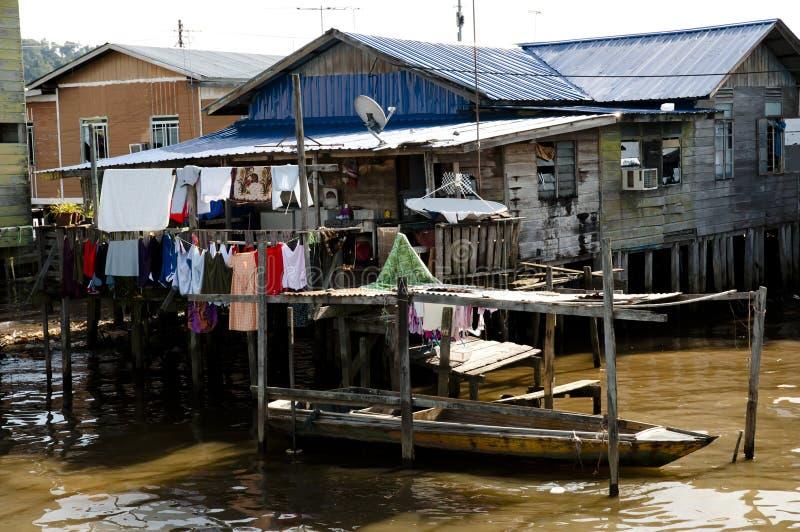 Vila da água - Brunei Darussalam imagens de stock royalty free