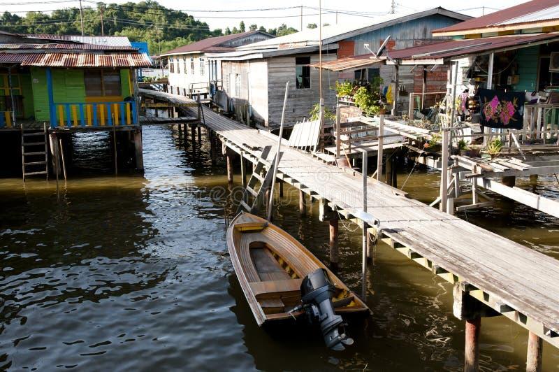 Vila da água - Brunei Darussalam imagem de stock royalty free