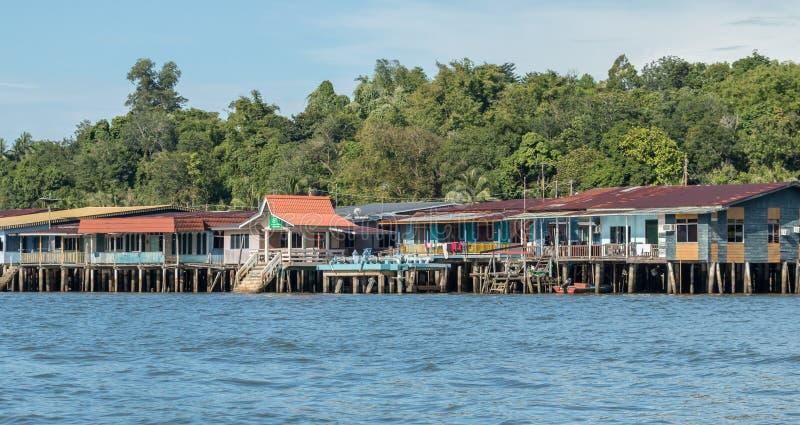 Vila da água de Ayer do Kampong em Bandar Seri Begawan, Brunei Darussalam fotografia de stock royalty free