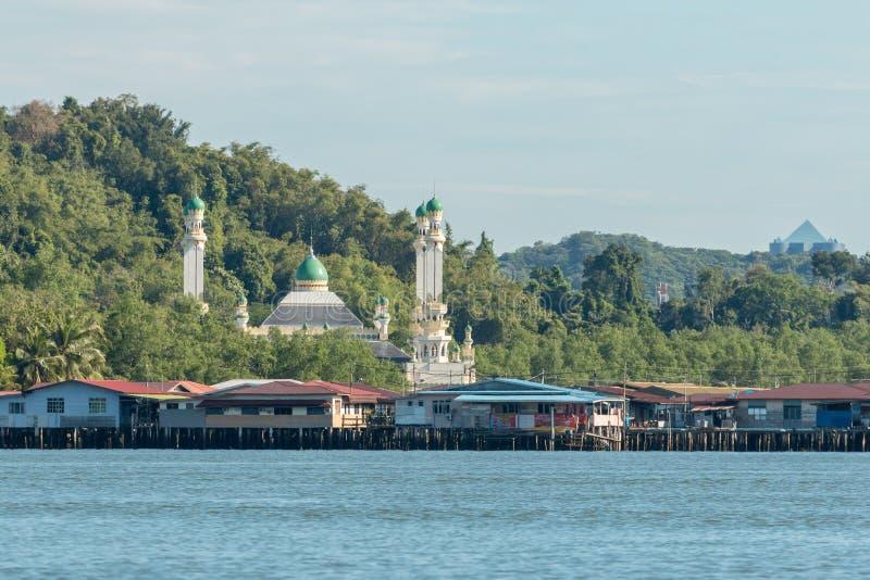 Vila da água de Ayer do Kampong em Bandar Seri Begawan, Brunei Darussalam fotografia de stock