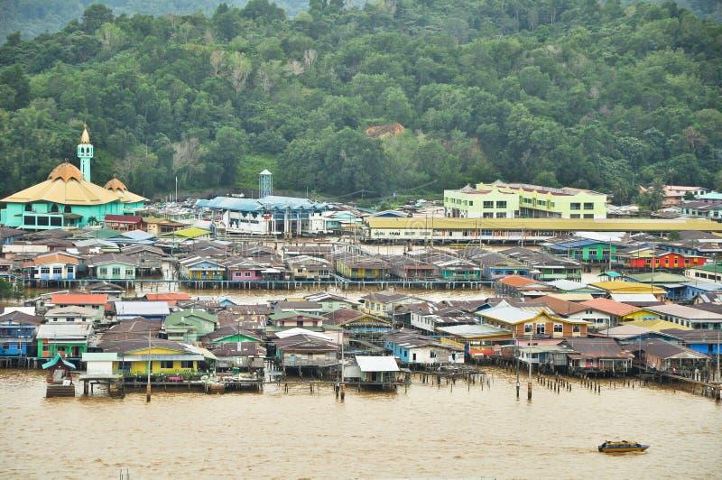 Vila da água de Bandar fotos de stock
