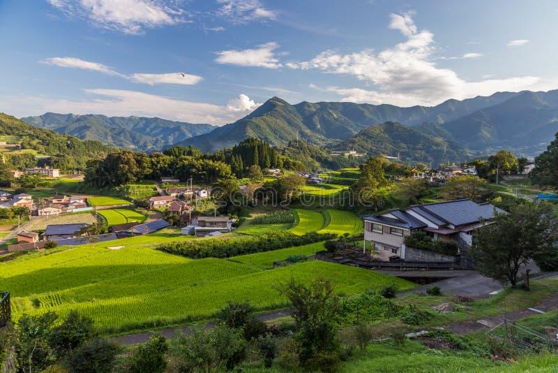 Vila da agricultura em Takachiho, Miyazaki, Kyushu foto de stock