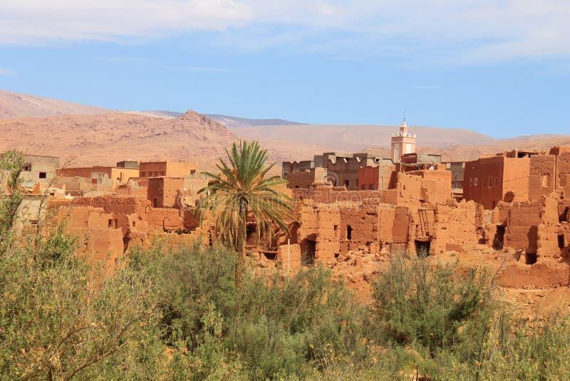 Vila da areia em Marrocos, Norte de África foto de stock royalty free