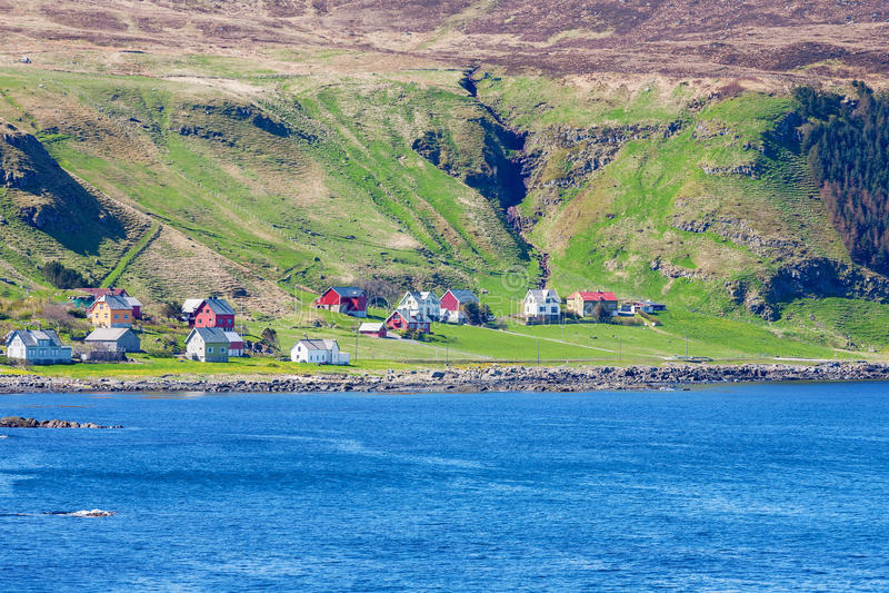 Vila da costa foto de stock