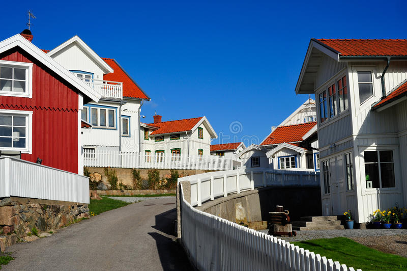 Vila da costa oeste foto de stock