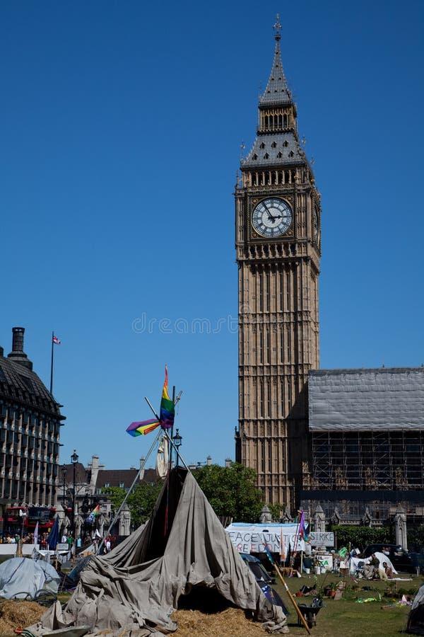 Vila da democracia no quadrado do parlamento imagens de stock royalty free