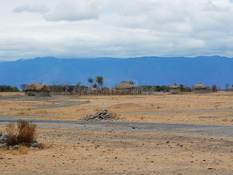 A vila das massas em África Arusha fotos de stock