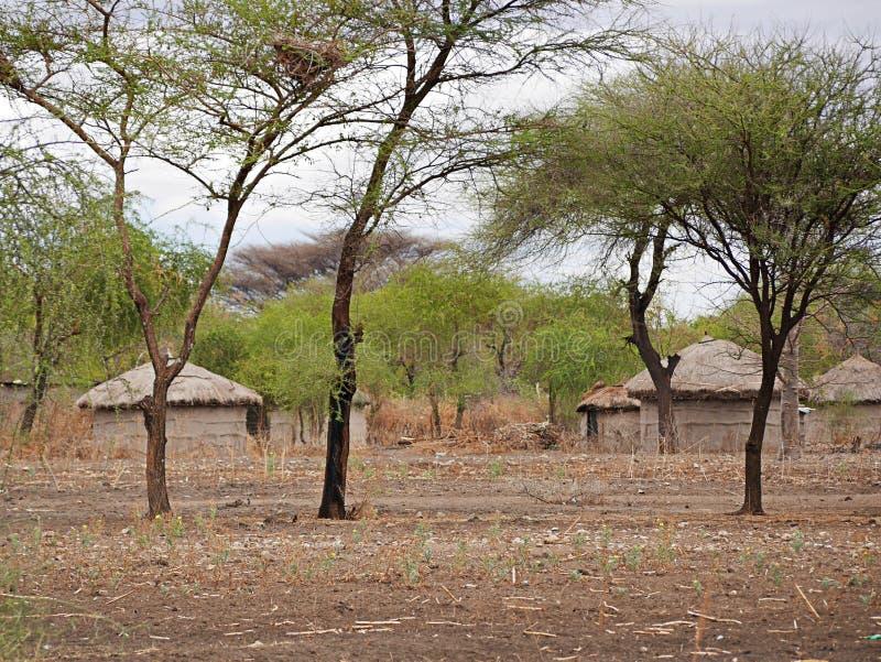 A vila das massas em Tanzânia imagens de stock