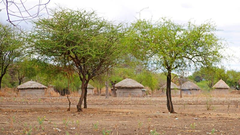 A vila das massas em Tanzânia fotografia de stock royalty free