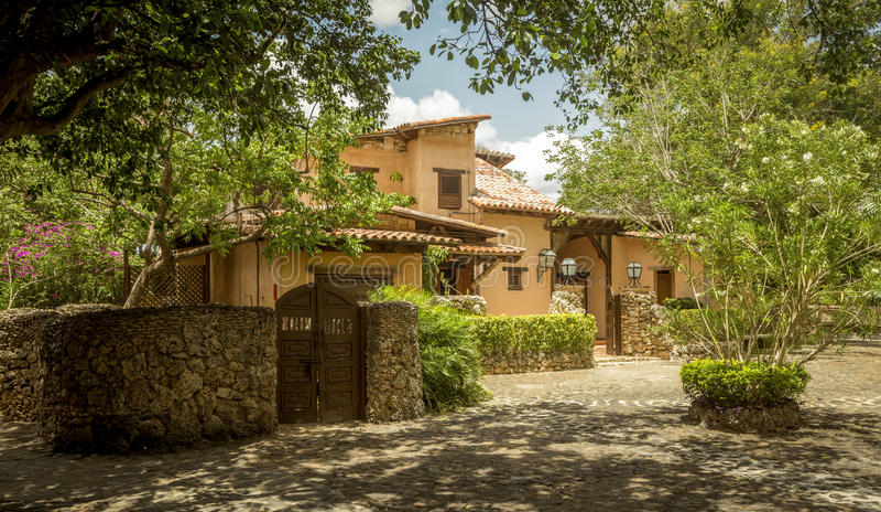 Vila de Alto de Chavon, La Romana na República Dominicana imagens de stock royalty free
