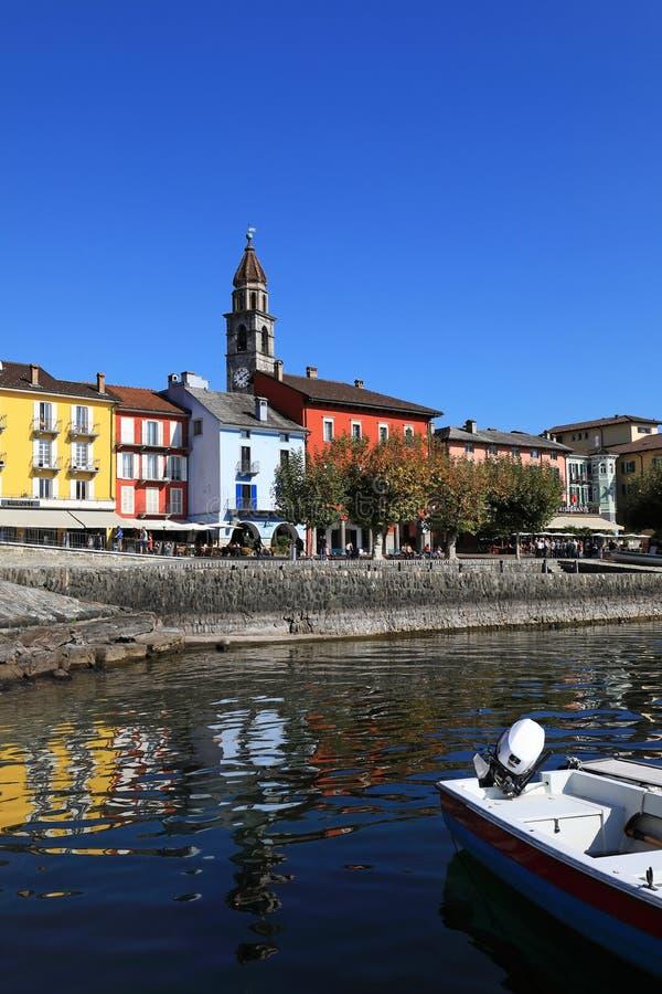 Vila de Ascona imagem de stock