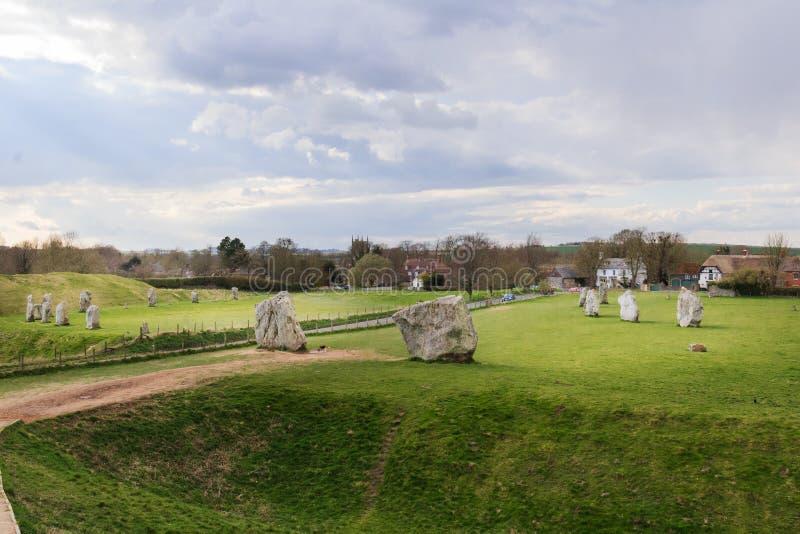 Vila de Avebury imagens de stock
