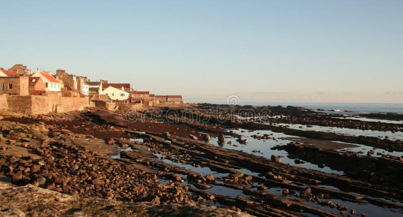 Vila de beira-mar escocesa fotografia de stock