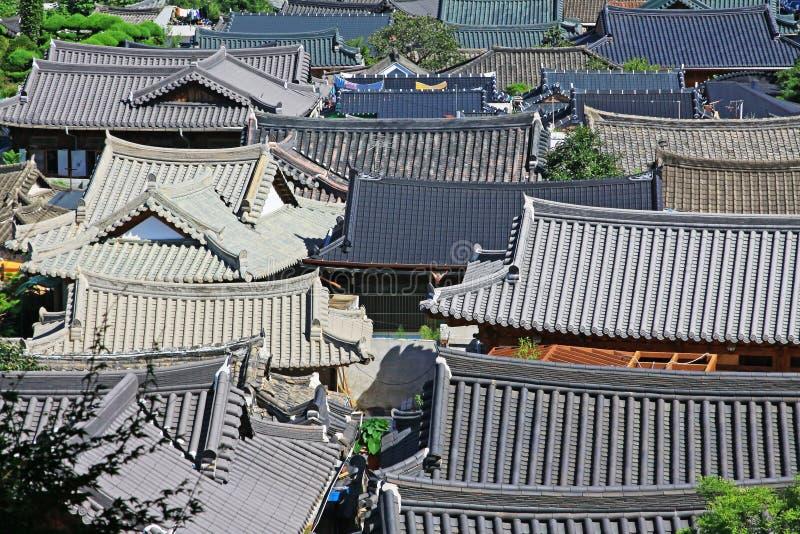 Vila de Coreia Jeonju Hanok imagens de stock