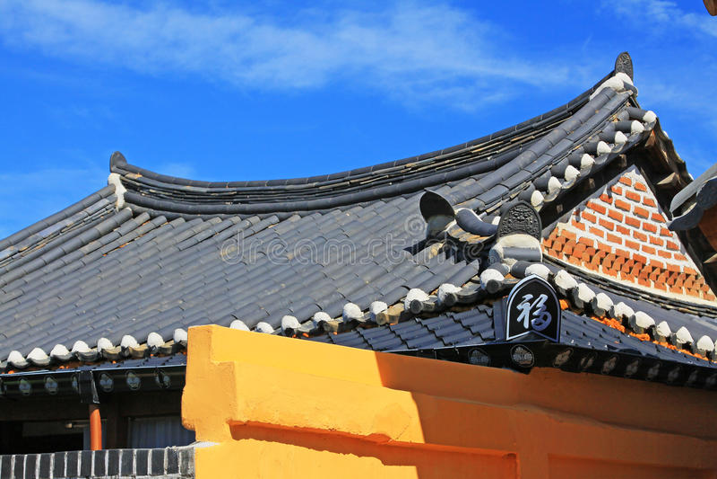 Vila de Coreia Jeonju Hanok fotos de stock royalty free