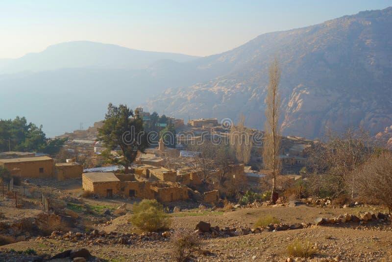 Vila de Dana na reserva natural da biodiversidade de Dana em Jordânia, Médio Oriente fotos de stock royalty free