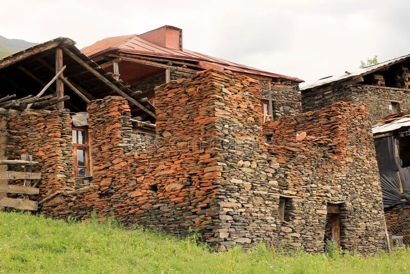 Vila de Diklo, região de Tusheti (Geórgia) imagens de stock