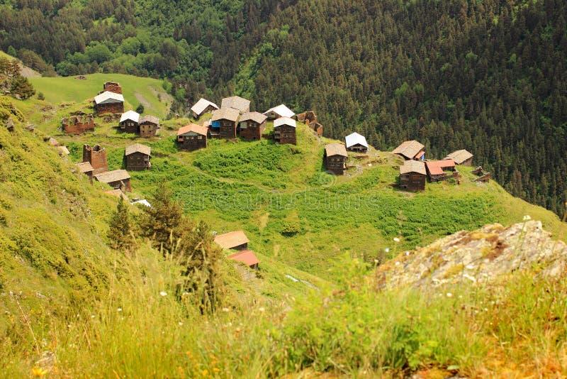 Vila de Dochu Região de Tusheti (Geórgia) imagem de stock