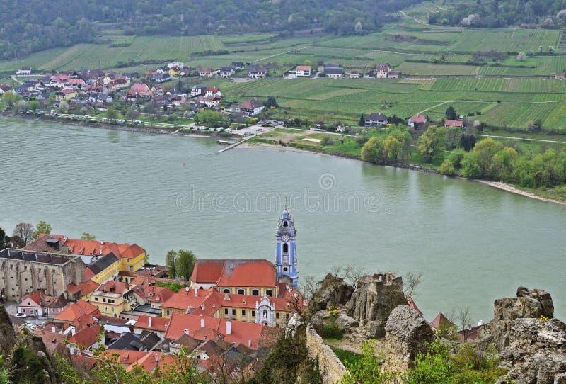 Vila de Durnstein em Wachau, Áustria imagem de stock royalty free
