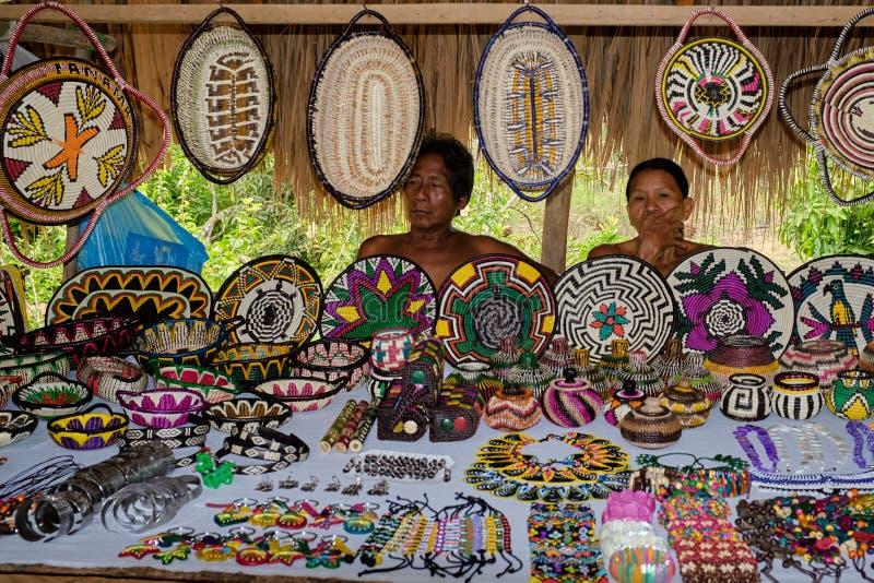 Vila de Embera, Chagres, Panamá imagem de stock royalty free