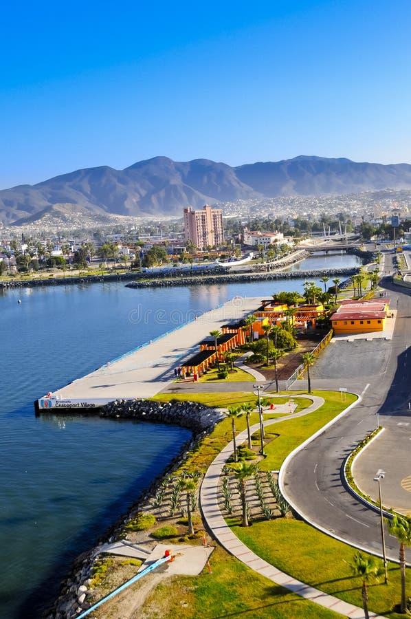 Vila de Ensenada Cruiseport imagens de stock