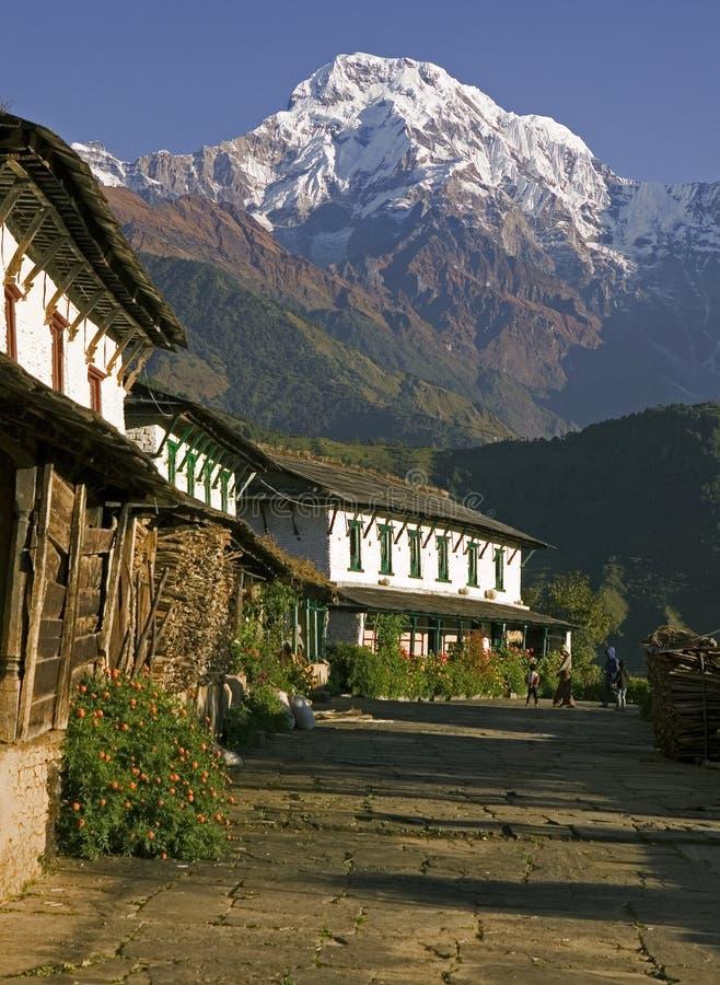 Vila de Ghandruk em Nepal foto de stock royalty free