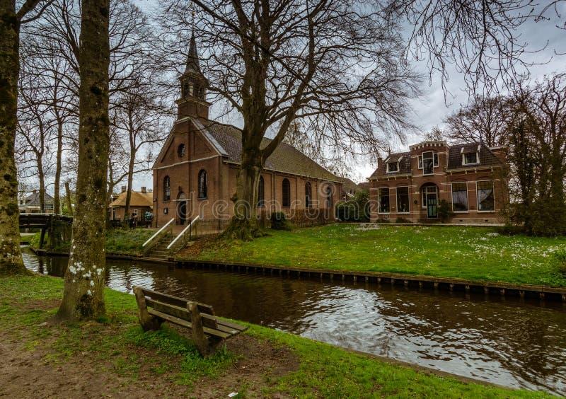Vila de Giethoorn, Países Baixos imagem de stock