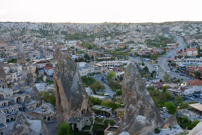 Vila de Goreme de Cappadocia imagem de stock royalty free