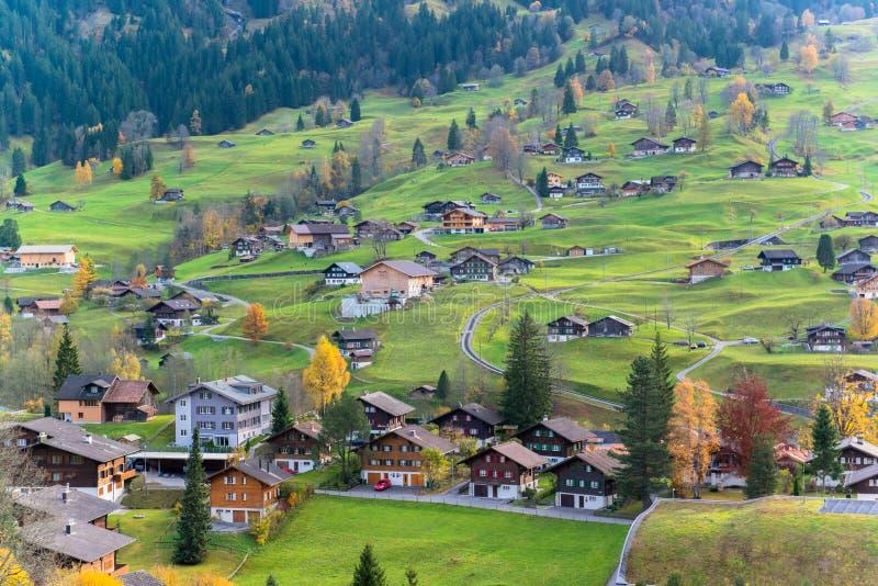 Vila de Grindelwald, Switzerland fotos de stock