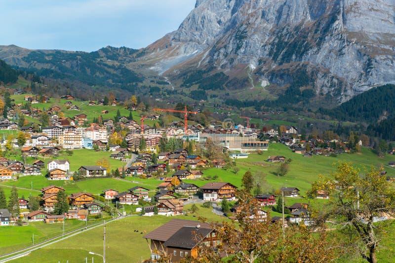 Vila de Grindelwald, Switzerland imagens de stock