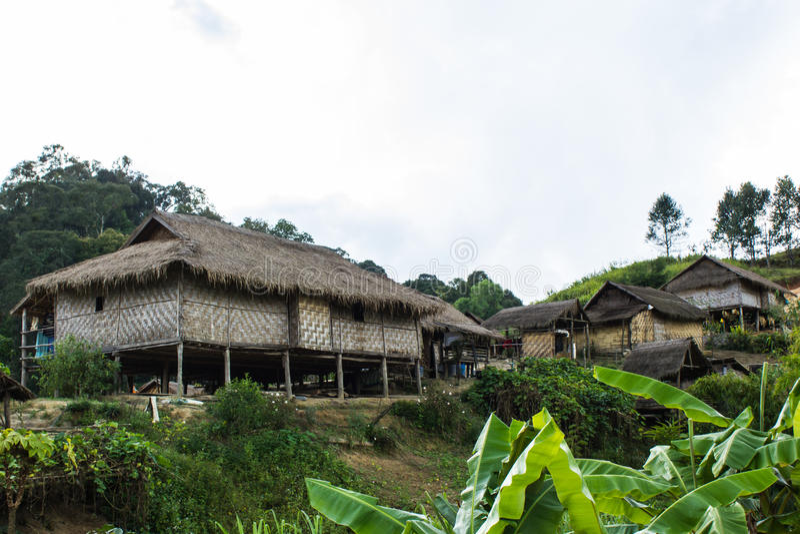 Vila de Hilltribe, Shan State imagem de stock
