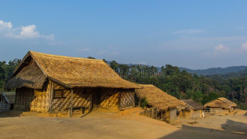 Vila de Hilltribe, Shan State, Myanmar fotografia de stock royalty free