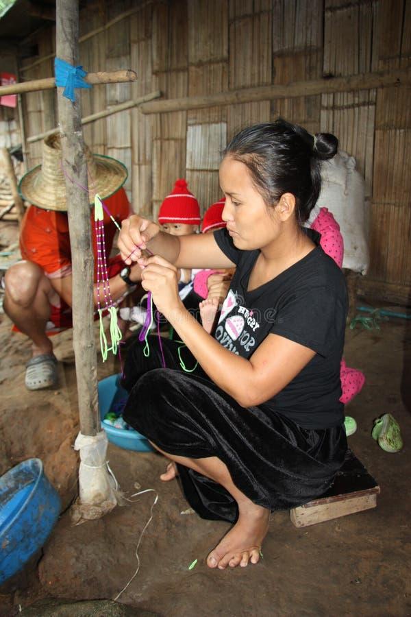 Vila de Karen em Tailândia imagens de stock royalty free