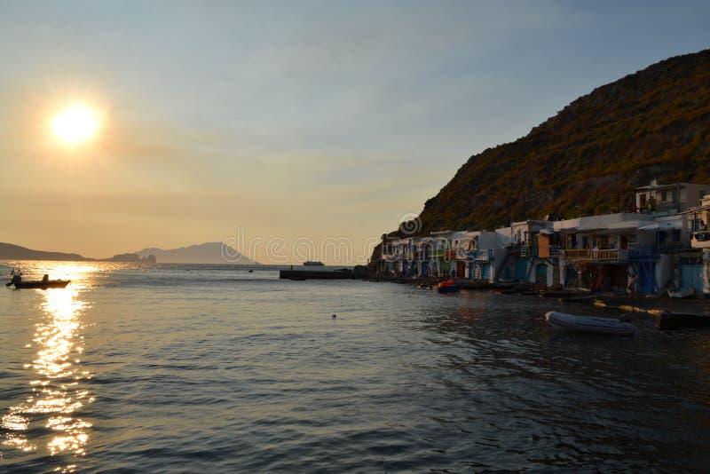 Vila de Klima nos Milos ilha, Grécia imagens de stock royalty free
