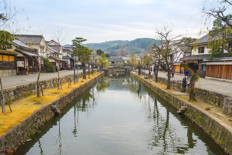 Vila de Kurashiki na cidade de Okayama, Japão imagens de stock