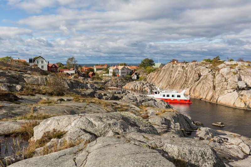 Vila de Landsort, arquipélago de Éstocolmo imagem de stock