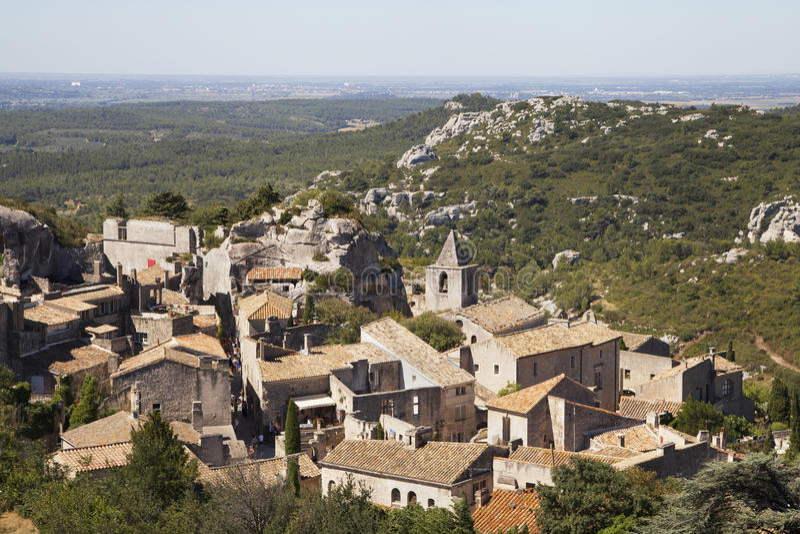 Vila de Les Baux de Provence fotos de stock