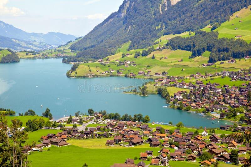 Vila de Lungern em Switzerland imagem de stock