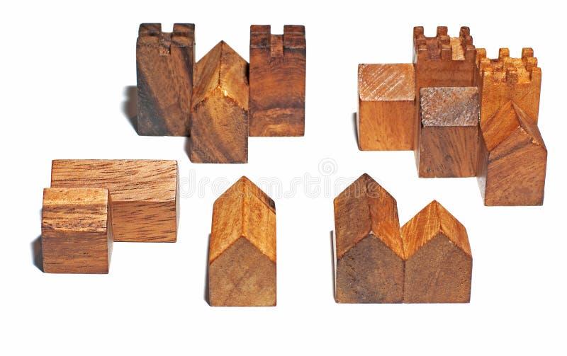 A vila de madeira fotografia de stock royalty free