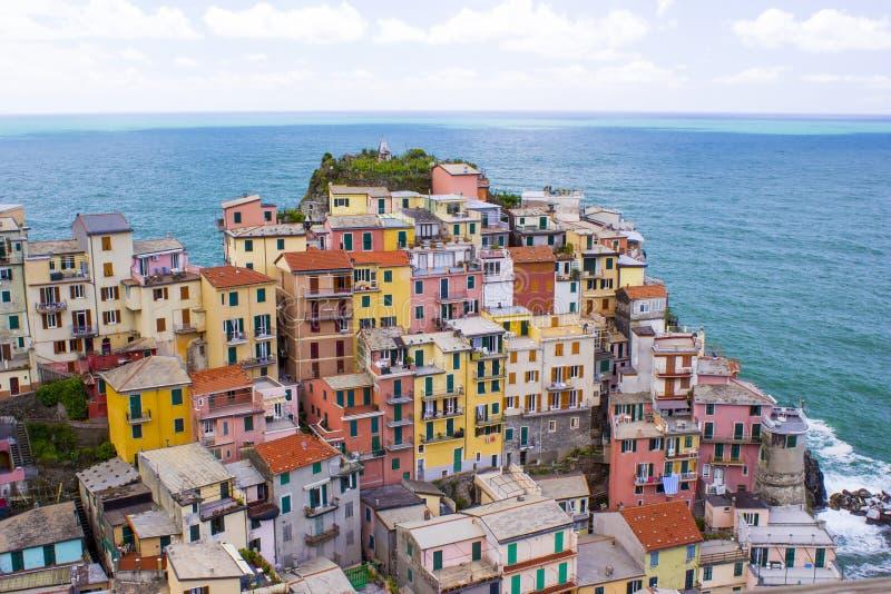 Vila de Manarola, em Cinque Terre fotografia de stock royalty free