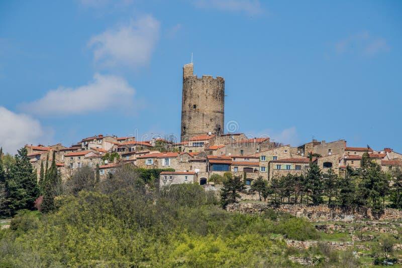 Vila de Montpeyroux, França imagens de stock