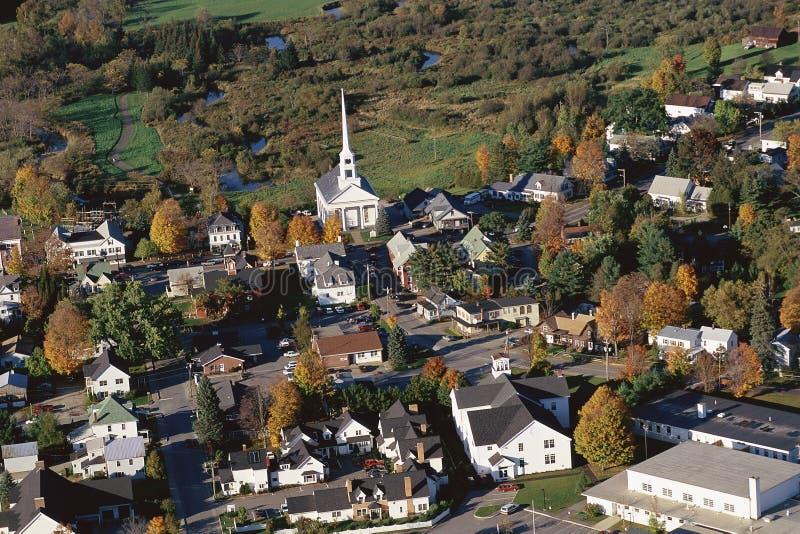 Vila de Nova Inglaterra imagem de stock