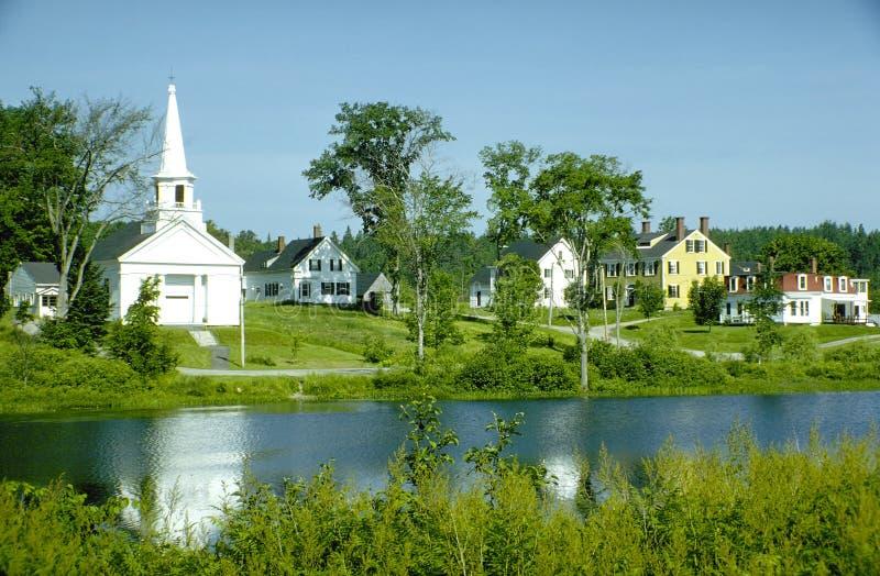 Vila de Nova Inglaterra fotos de stock