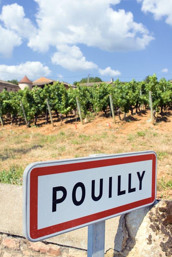 Vila de Pouilly fotos de stock
